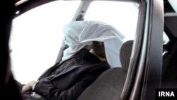 Машина, в которой был взорван иранский физик-ядерщик Ахмади-Рошан