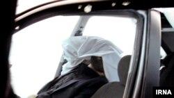 جسد احمدی روشن در اتومبیل