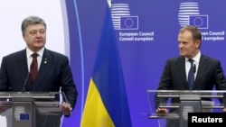 Petro Poroshenko və Donald Tusk