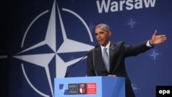 Barack Obama, Varşavada NATO konfransında. 9 iyul, 2016