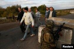 Обмен военнопленными в Луганской области. Сентябрь 2014