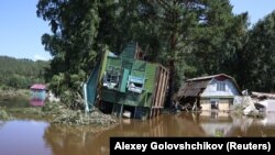 According to authorities, the floods have destroyed more than 10,000 homes homes and displaced about 33,000 people.
