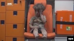 17-nji awgustda Aleppo şäherinde alnan wideo ýazgydan bir pursat.