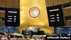 Результати голосування на засіданні Генеральної асамблеї ООН за резолюцію про права людини в Криму, 19 грудня 2016 року