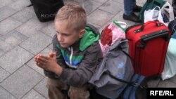 Уцекачы з Луганску прыбылі ў Львоў. Ліпень 2014