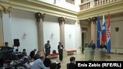 Ministri vanjskih poslova Slovenije i Hrvatske u Zagrebu, 19. ožujak 2012.