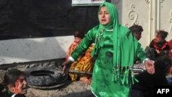 Кабулдың орталығындағы ғибадатханада болған жарылыстан кейінгі жағдай. Ауғанстан, Кабул, 6 желтоқсан 2011 жыл.