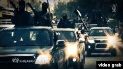 «Իսլամական պետության» զինյալները ահաբեկչական խմբավորման քարոզչական տեսանյութերից մեկում, արխիվ