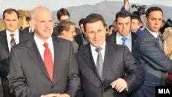 Премиерите на Македонија и Грција