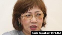«Журналистер қауіп-қатерде» ұйымының президенті Розлана Таукина. Алматы, 11 қаңтар 2011 жыл.