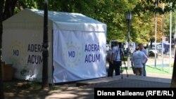 Cortul unui ONG pro-european la Chișinău
