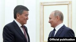 Кыргыз президенти Сооронбай Жээнбеков менен орус лидери Владимир Путин.