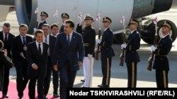 Президенты Франции и Грузии - Николя Саркози и Михаил Саакашвили, Тбилиси 7 октября 2011