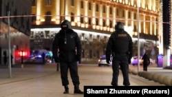 Силовики біля будівлі ФСБ Росії в Москві, 19 грудня 2019 року