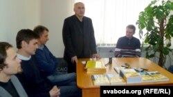 Рэдактар «Дзеяслова» Барыс Пятровіч.