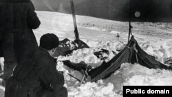 A Dyatlov group tent, as it was discovered on February 26, 1959