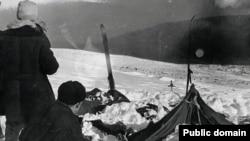 Палатка группы Дятлова 26 февраля 1959