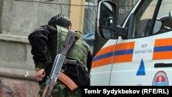 Қырғызстан МҰҚК қызметкері (Көрнекі сурет).