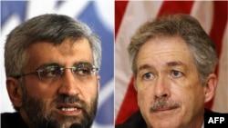 The top negotiators: Iran's Said Jalili (left) and U.S. Undersecretary of State William Burns