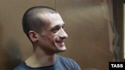 Российский художник-акционист Петр Павленский на суде по его делу. Москва, 26 февраля 2016 года.
