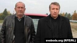 Юры Швец (справа) і Васіль Альхоўскі (зьлева)