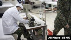 کارگاه تولید ماسک در نیروی انتظامی