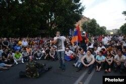 Сидячий страйк у Єревані, 22 червня 2015 року