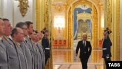Президент Российской Федерации Владимир Путин на встрече с силовиками в четверг 9 апреля