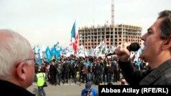 Лидеры оппозиции на митинге протеста 8 апреля 2012