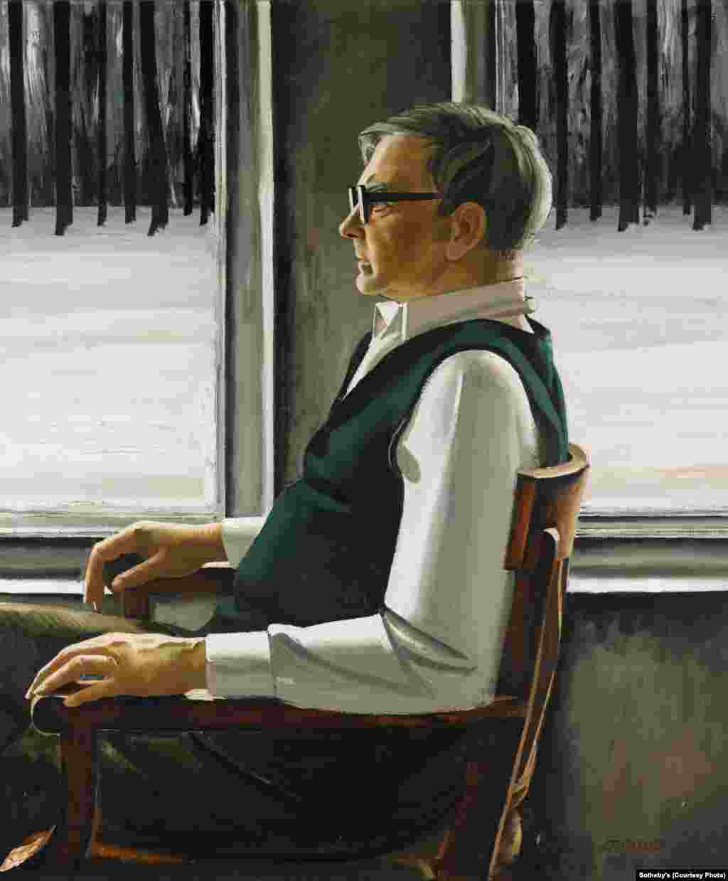 A 1987 portrait of Dmitry Shostakovich by Azerbaijani artist Tair Salakhov (b. 1928). Salakhov was a major figure of the Soviet art world and was celebrated for painting many of the leading composers of the time.