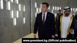 Сооронбай Жээнбеков во время официального визита в ОАЭ.