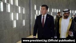 Президент Сооронбай Жээнбеков Бириккен Араб Эмираттарына расмий сапарга барган учур. 11-декабрь, 2019-жыл.