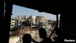 Развалины мечети в городе Газа (2 августа 2014 года)