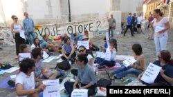 Prosvjed otočana pred Saborom koji traže da se pomorsko dobro izuzme iz davanja u koncesiju (lipanj 2017)