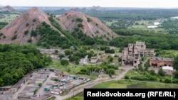 Терриконы шахтерского поселка на Донбассе