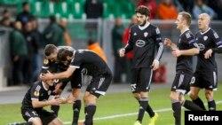 France.27Nov.2014- Europa League Group F soccer match Saint-Etienne-Karabakh at the Geoffroy Guichard stadium in Saint-Etienne