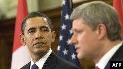ԱՄՆ-ի նախագահ Բարաք Օբամա և Կանադայի վարչապետ Սթիվեն Հարփեր, արխիվ