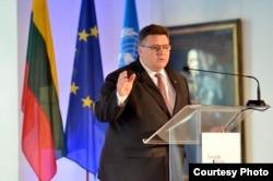 Міністр закордонних справ Литви Лінас Лінкявічус, 2015 рік