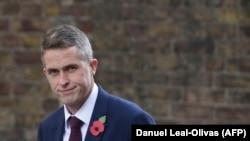 U.K. -- Conservative MP Gavin Williamson walks through Downing Street in central London, November 2, 2017