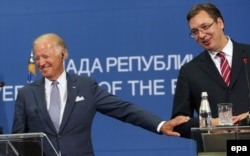 Байден и премьер-министр Сербии Александр Вучич