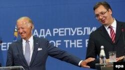 Džozef Bajden i Aleksandar Vučić, Beograd