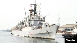 The Italian frigate Euro, which docked in the Iranian port of Bandar Abbas on September 24