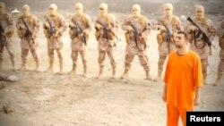 Предположительно захваченный ИГ иорданский пилот (кадр видеозаписи боевиков).