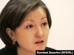 Правозащитница Анара Ибраева.