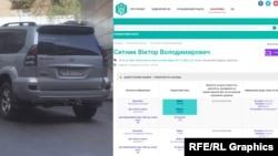 Серед машин журналісти помітили і Тoyota Prado керівника оперативно-аналітичного відділу ДФС у Києві Віктора Ситника