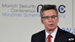 Германскиот министер за одбрана Томас де Маизир, Минхен 01.02.2013.