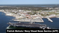 The U.S. Naval Air Station in Pensacola, Florida, where the deadly shooting incident occurred. (file photo)