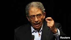 Egyptian presidential candidate Amr Moussa took part in the historic presidential debate watched by millions of Egyptians.