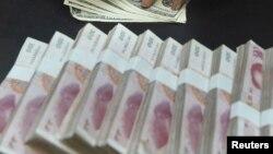 Қытай валютасы, юань. Көрнекі сурет.
