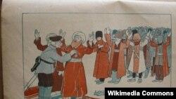 Molla Nəsrəddin jurnalında bir karikatura.